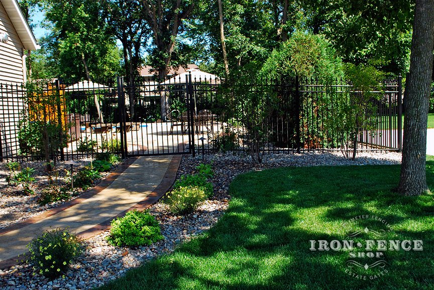 6ft Tall Aluminum Fence and Gate - DIY Installation