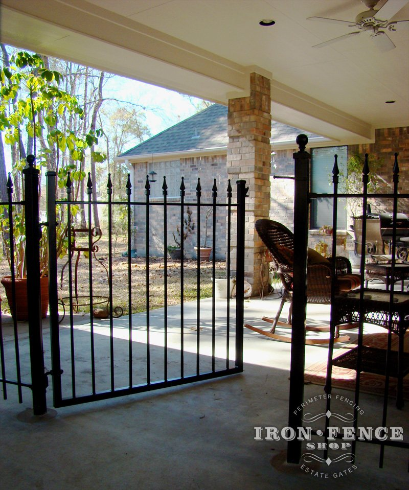 Mounting Wrought Iron Fence On Top Of Concrete Surface Or