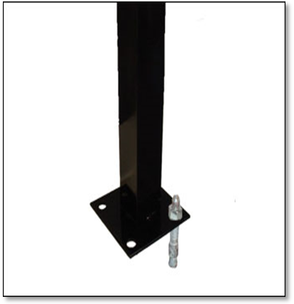 Iron Flange Post for Surface Mounting