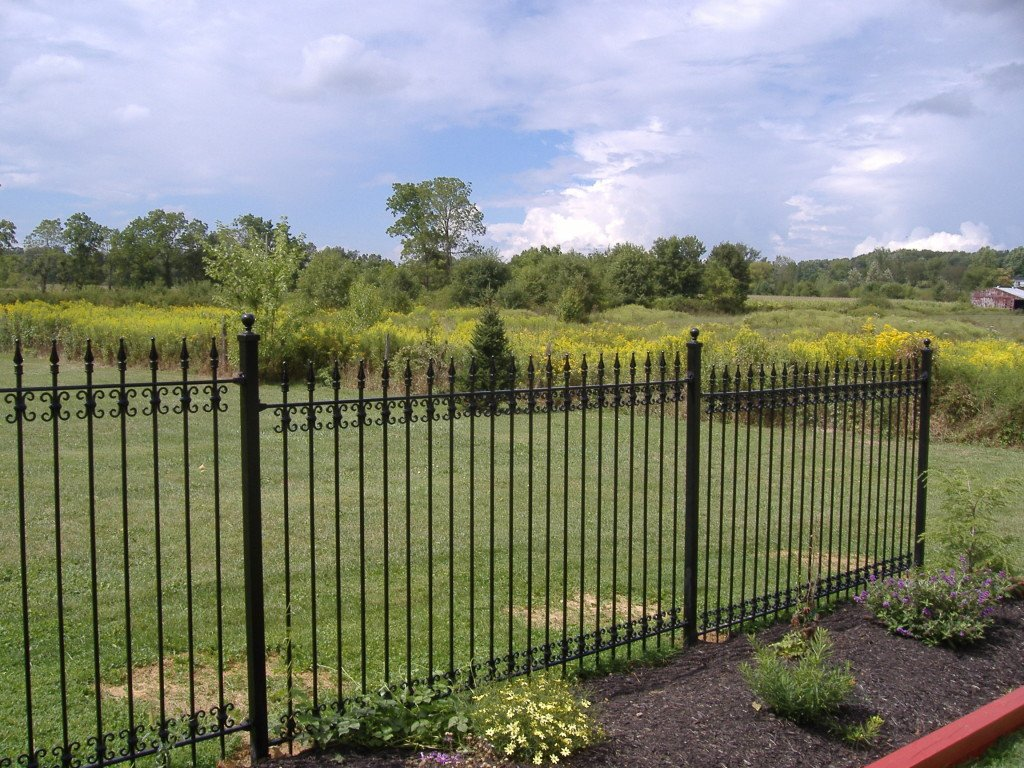 5ft Wrought Iron Fence with Add-on Butterfly Decorations