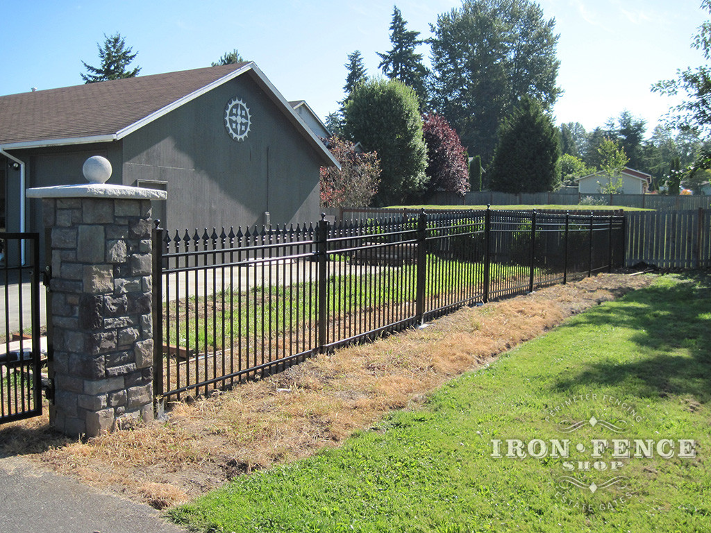 5ft Tall Aluminum Fence DIY Installation