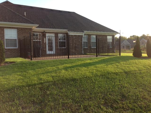 DIY Iron Patio Fence Installation