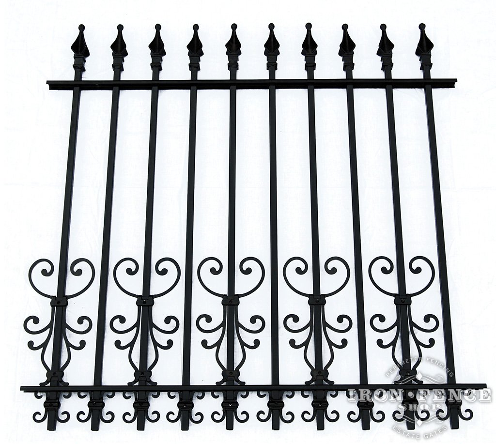 Wrought Iron And Aluminum Fences For Small Dogs Fence Shop Blog 16 2 Butterfly New Cape Cod Scroll Decorations As A Dog Barrier On 4ft Tall Signature