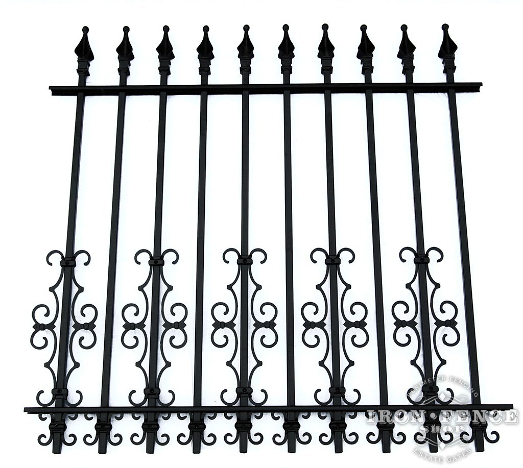 Wrought Iron And Aluminum Fences For Small Dogs Fence Shop Blog 16 2 Butterfly New Guardian Scroll Decorations As A Dog Barrier On 4ft Tall Signature