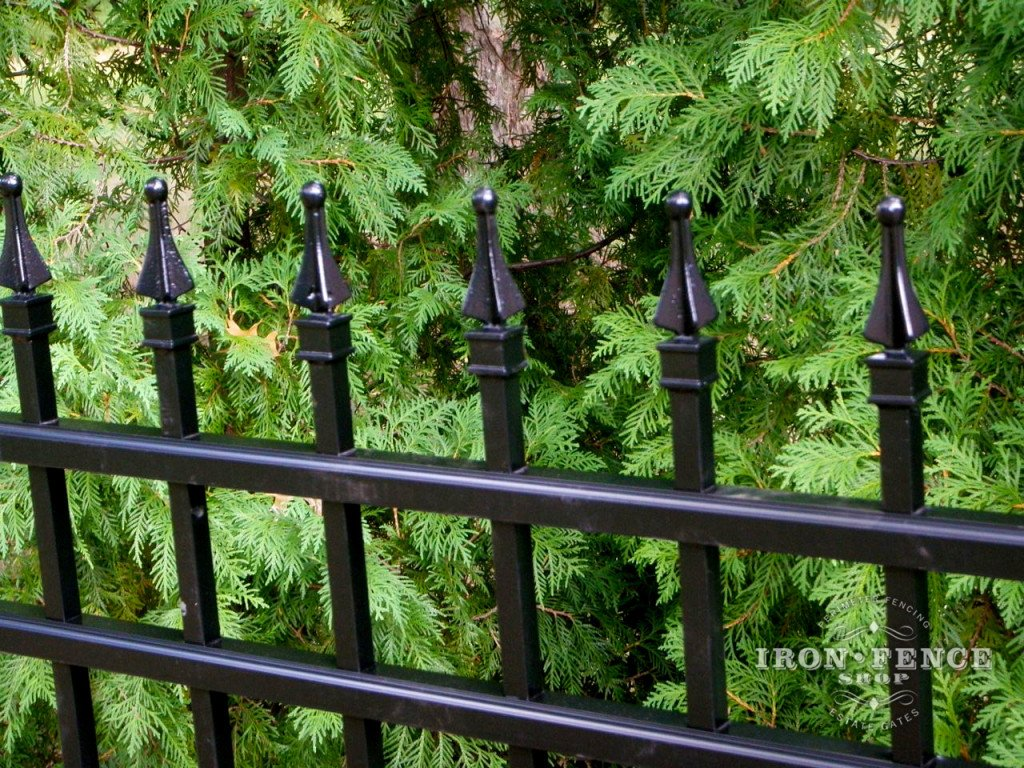 Aluminum Picket Fence Cad Drawings