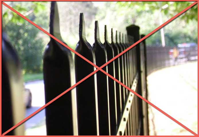 'Pinch' or 'Crimp' Top Fences not Only Look Bad - They have Sharp Edges