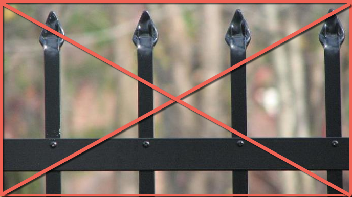 Builders Grade 'Pinch' or 'Crimp' Top Fence