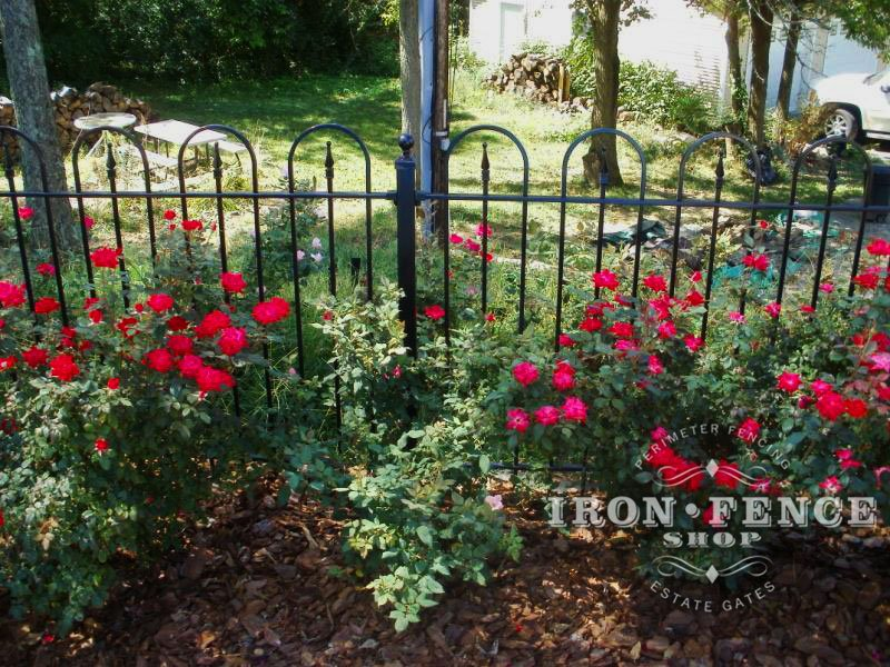 Traditional Grade Iron and Aluminum Fence with Its Smaller Profile will Blend into the Scenery More