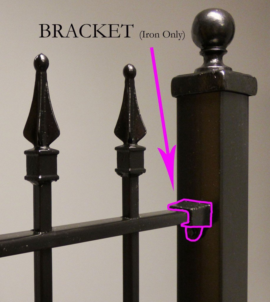 Iron Fence Bracket Component