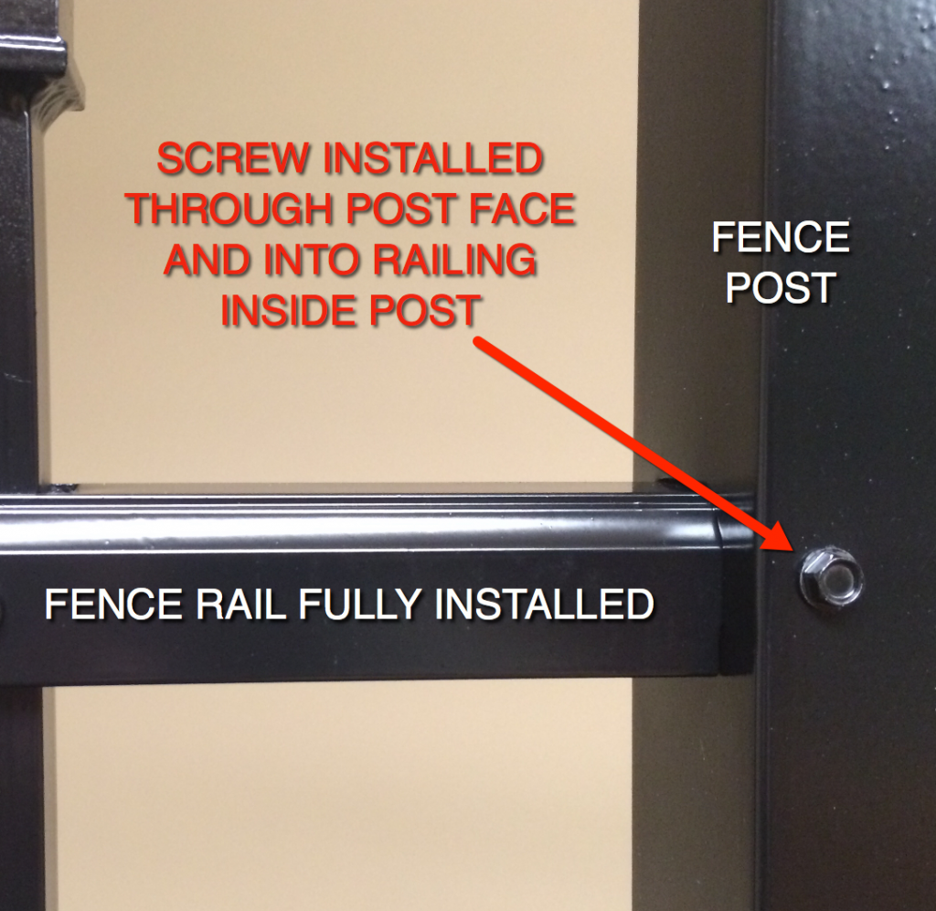 Aluminum Fence Final Installation with Self-Tapping Screw.  It's That Easy!