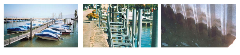 Galvanized Materials used in Bottighofen Port Marina