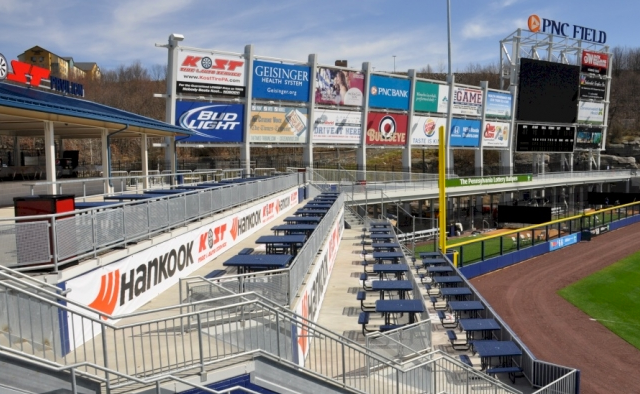 Galvanized Hand Rails at PNC Field
