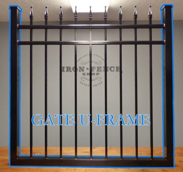 Iron and Aluminum Gate U-Frame