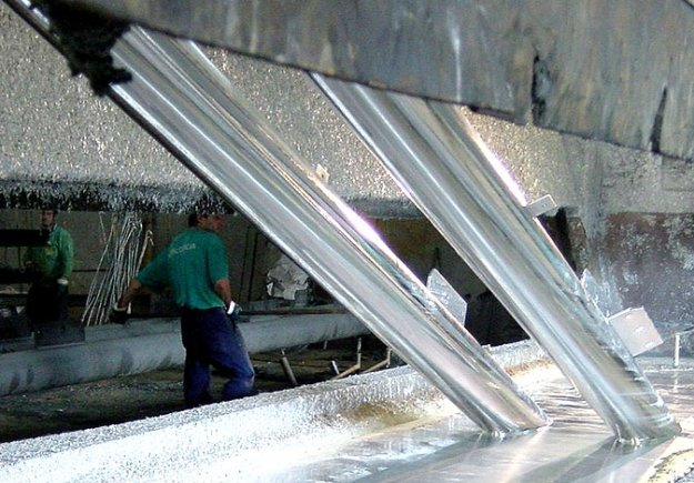 Fence Materials Being Hot Dip Galvanized in Molten Zinc