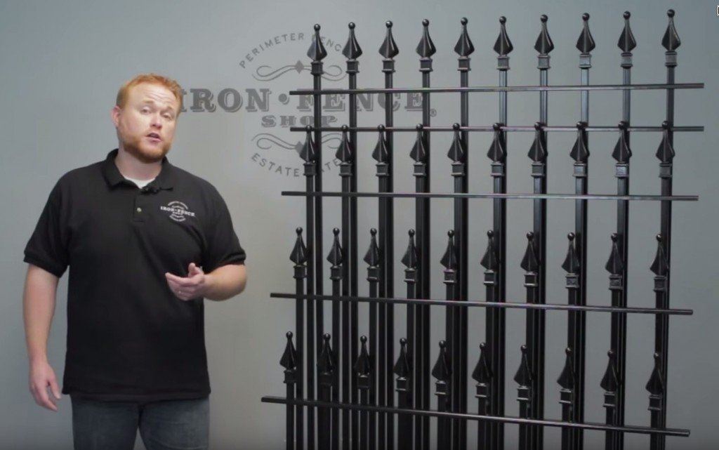Different Heights of Wrought Iron and Aluminum Fence Offered