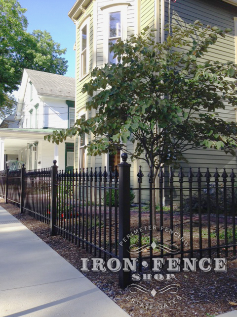 Our 3ft Tall Signature grade iron fence used in a historic district