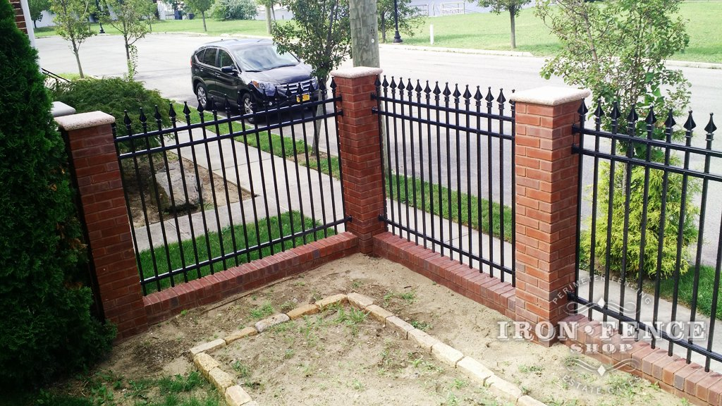 A testimonial from brooklyn ny iron fence shop blog for Brick and wrought iron fence designs