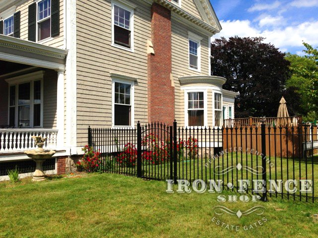 You get the same quality powder coated finish whether you chose our iron or aluminum fence