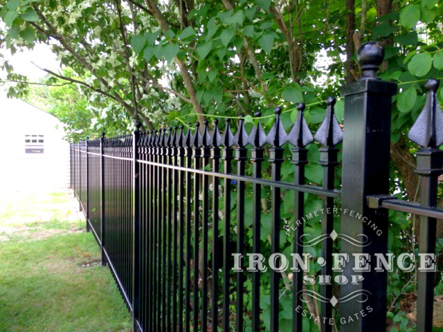 Which requires more maintenance - iron fence or aluminum fence?