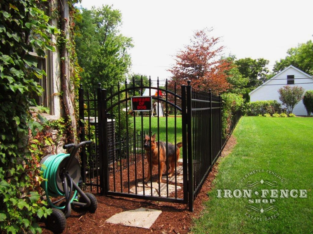 5ft Tall Aluminum Fence and Arched Gate