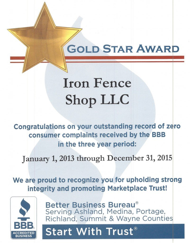 Another 3 perfect years of BBB standing with our customers!