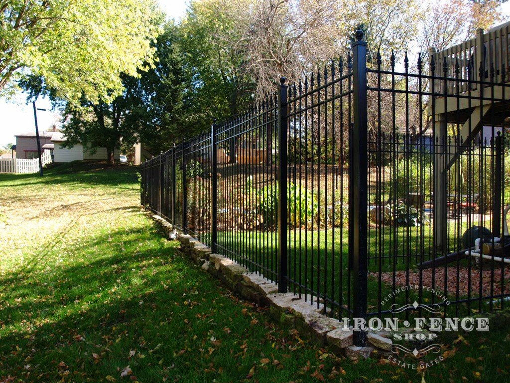How to diy install iron fence or aluminum on a hill