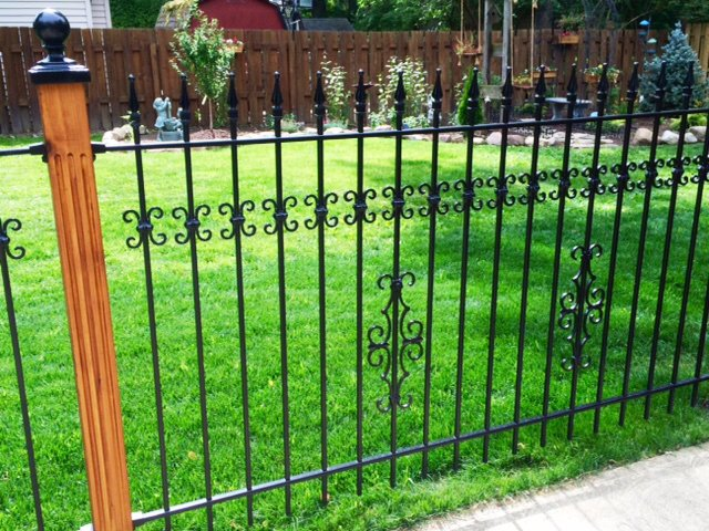 Add-on Decoration Castings Give our Standard Iron Fence a Custom Look