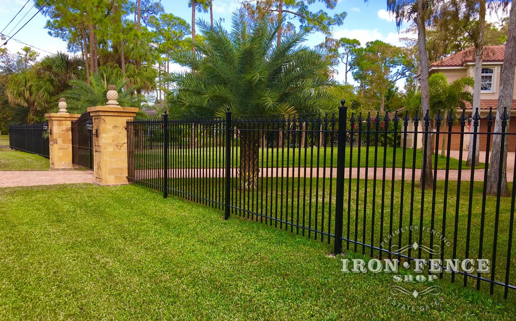 5ft Tall Stronghold Iron Fence in Classic Style and Signature Grade