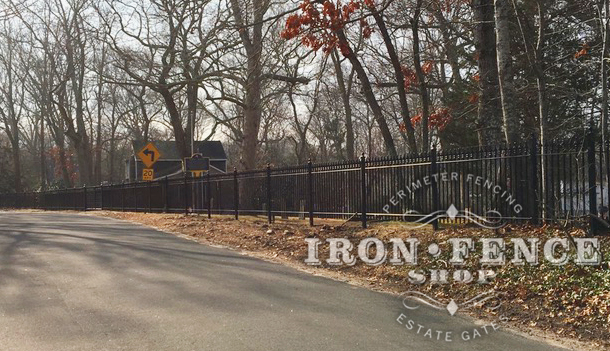 4ft Iron Fence in Signature Grade Used at a Historic Cemetery