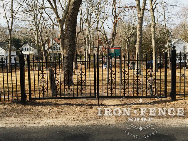 4x12 Wrought Iron Gate with Cape Cod Add-on Decorations