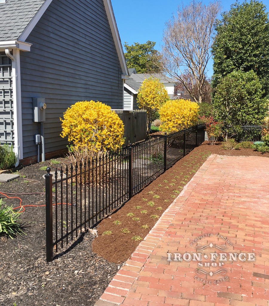 3ft Iron Fence Used as a  Decorative Property/ Driveway Barrier