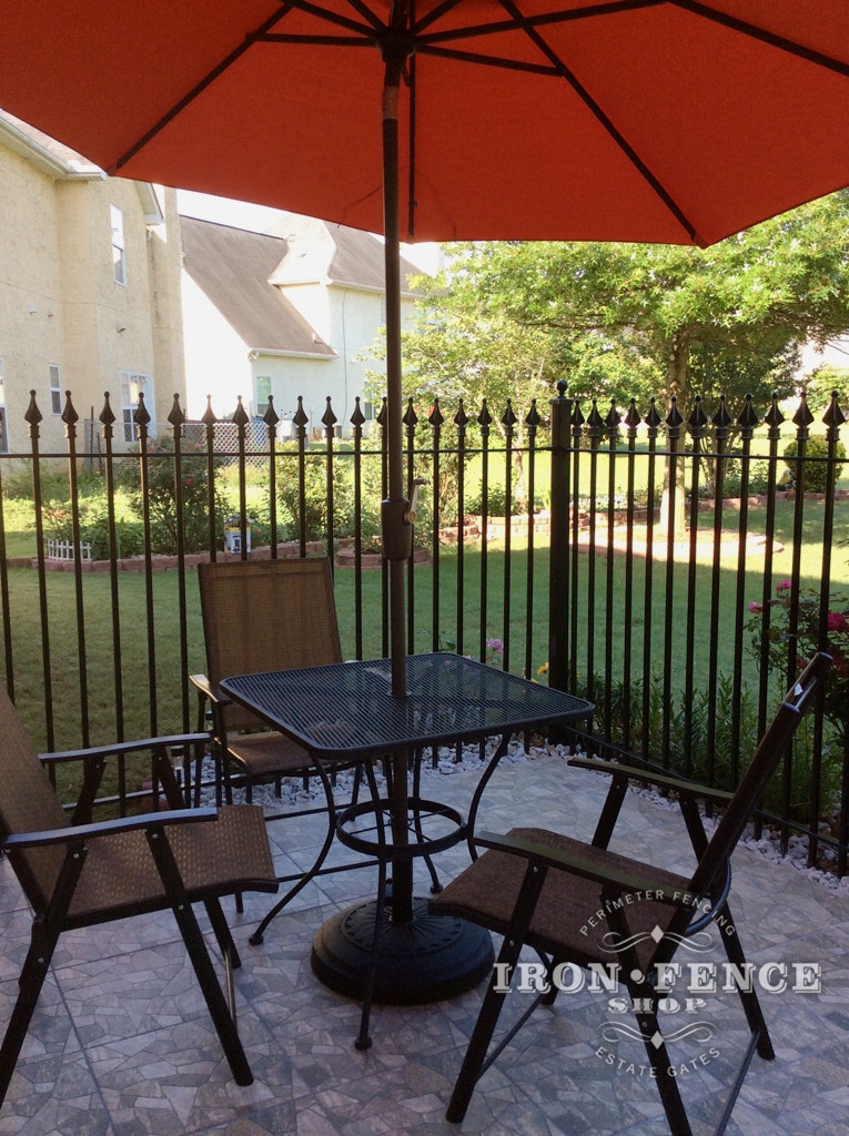 Iron Fence used as a Patio Surround