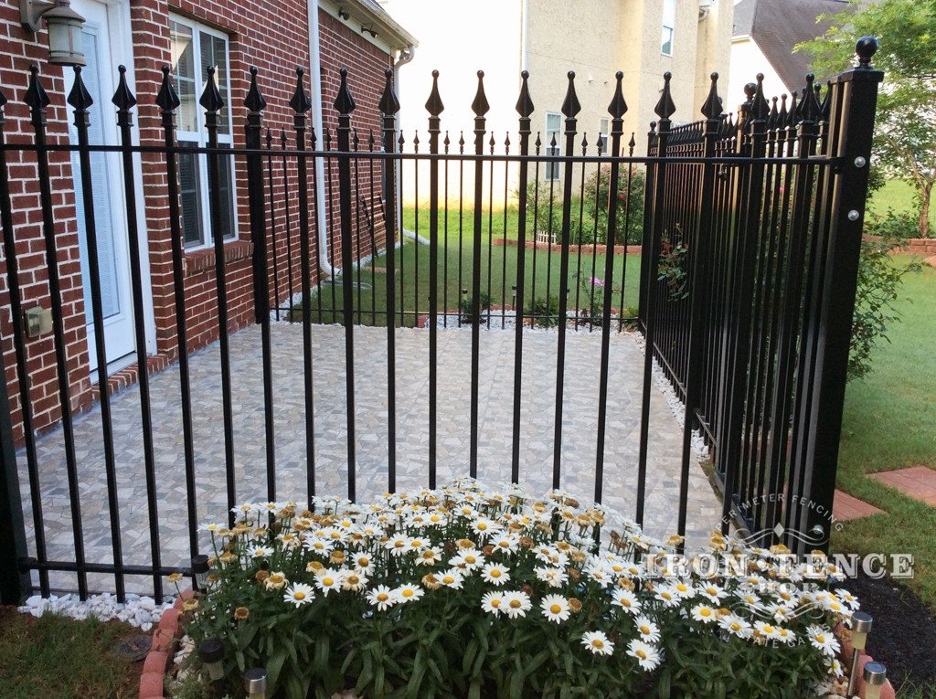Delicieux 5ft Wrought Iron Fence Around A Patio