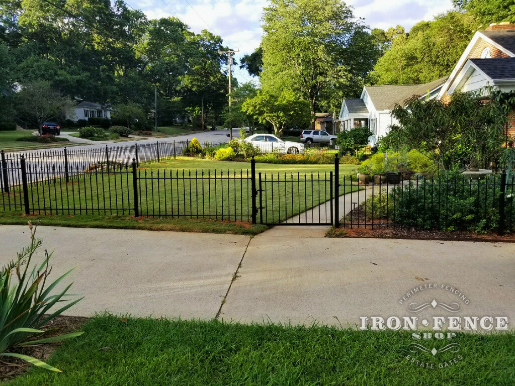 3ft Iron Fence and Gate for Front Yard Enclosure