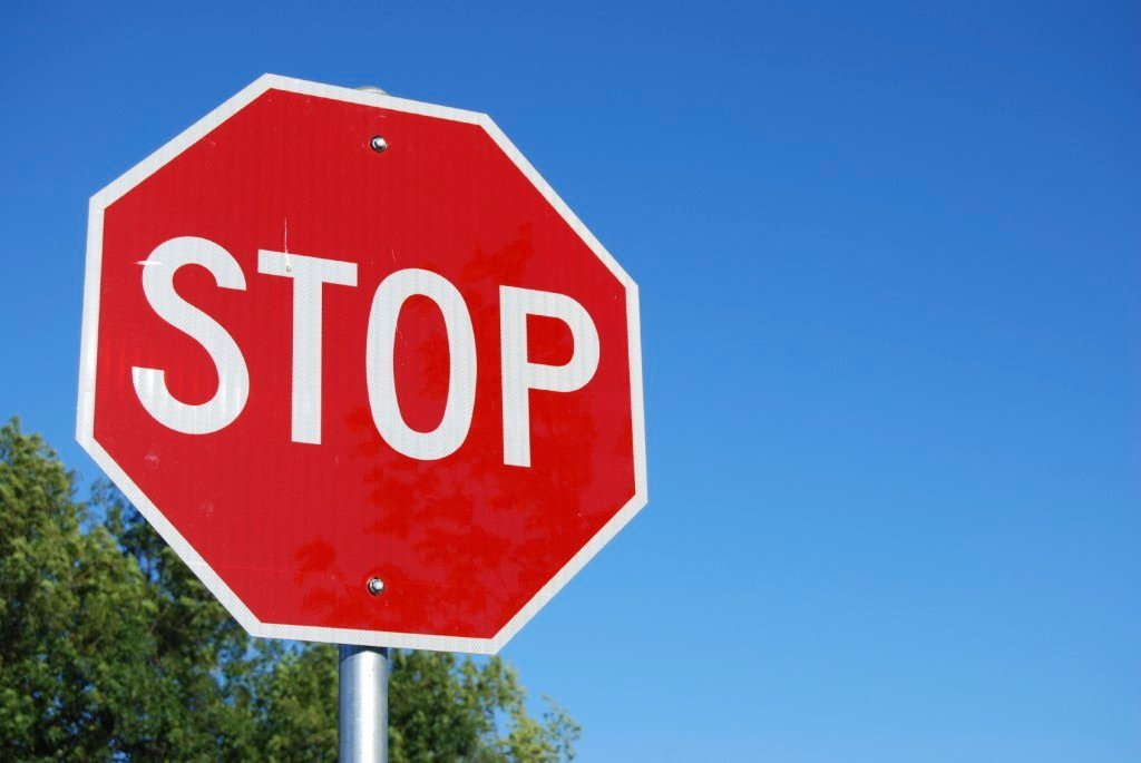 Stop Signs Use Straight Angles to Make an Essentially Circular Sign