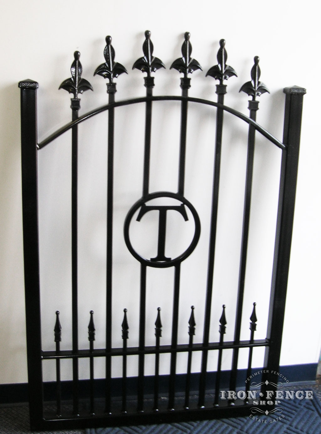Custom wrought iron fence finial tip options