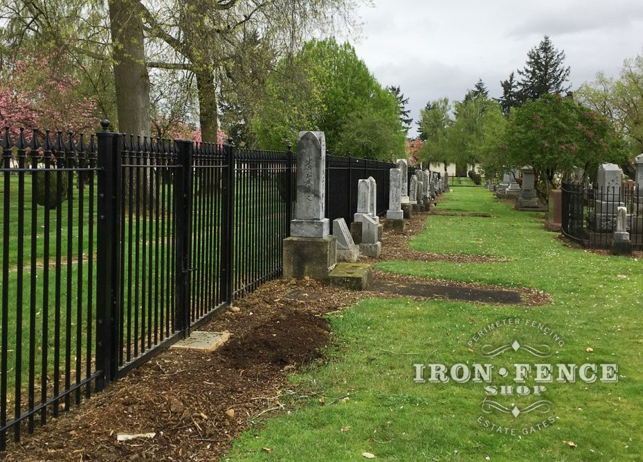 Wrought Iron Fence is a Popular Choice for Protecting Cemeteries