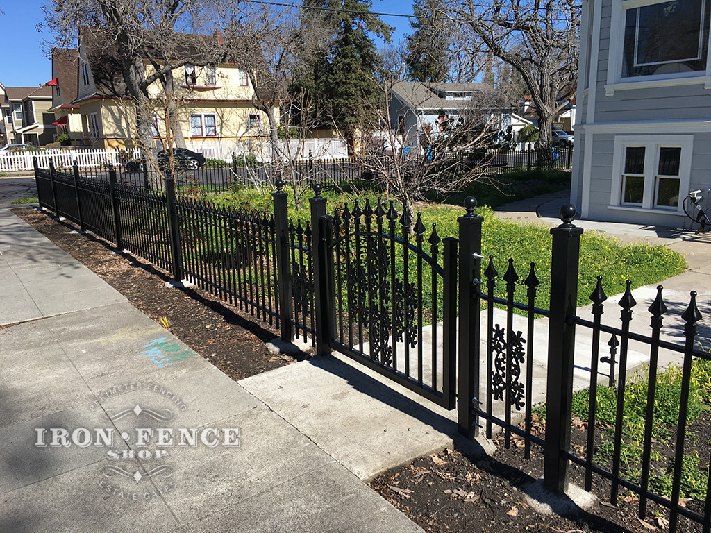 3ft Signature Grade Iron Fence and Gate with Add-on Decorations
