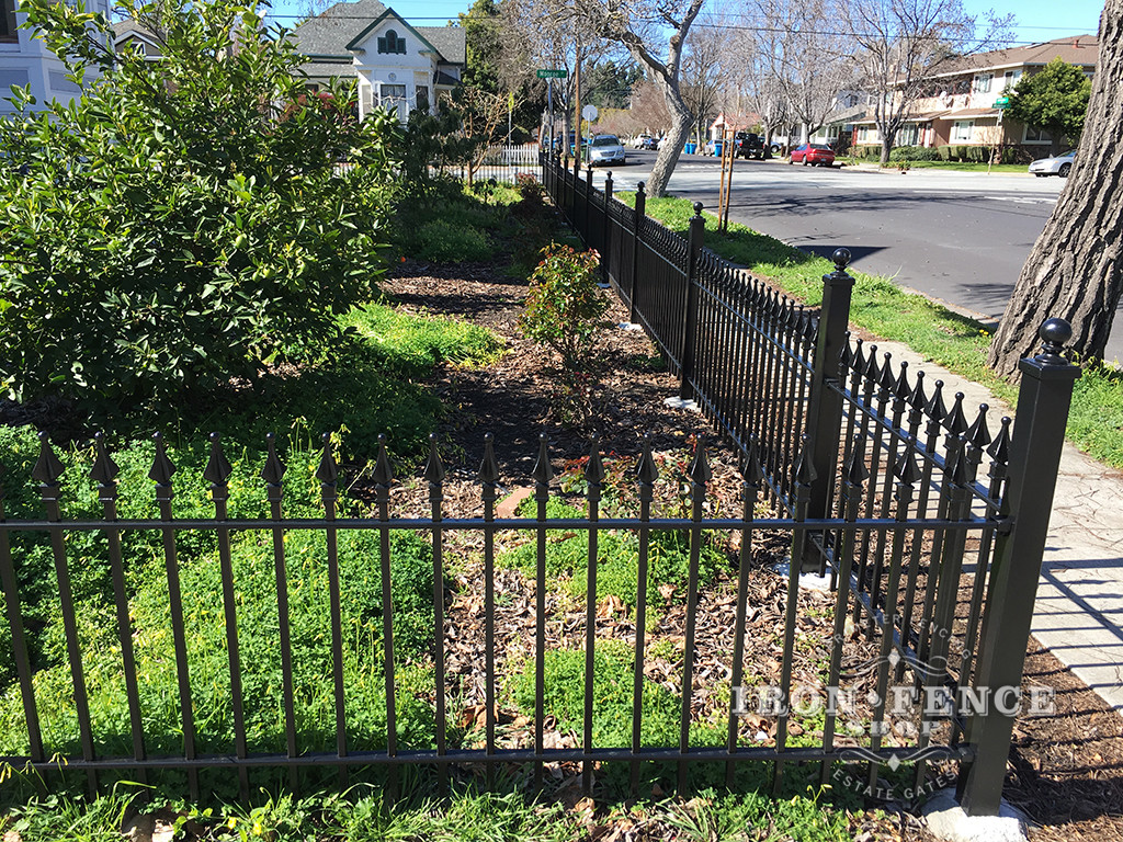 3ft Tall Classic Style Wrought Iron Fence in Signature Grade
