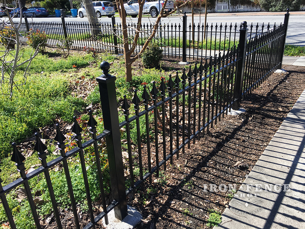 3ft Tall Classic Style Wrought Iron Fence