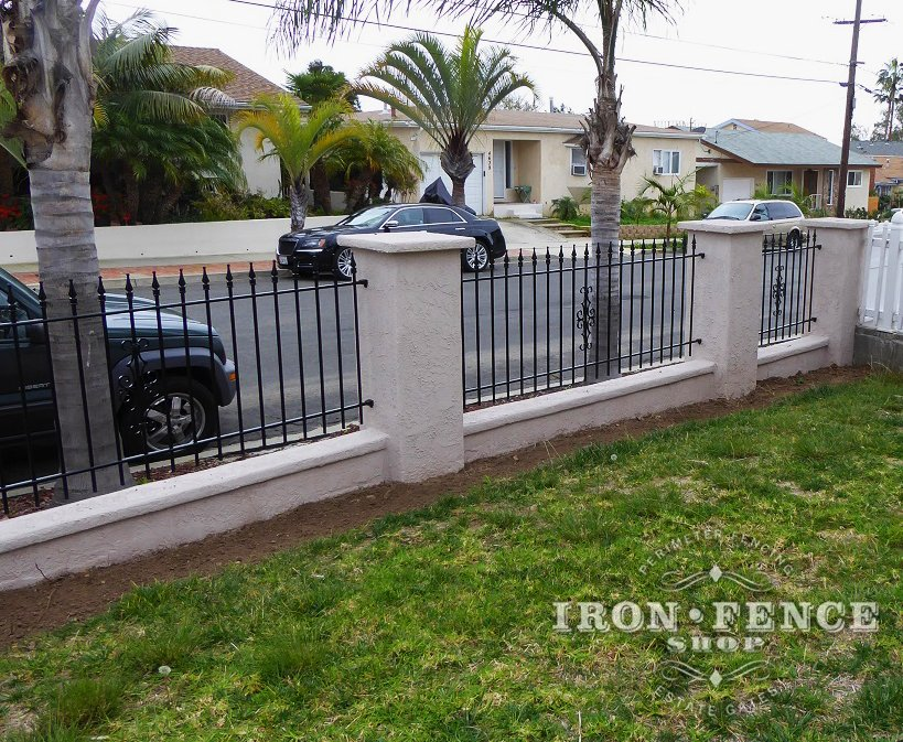 Custom Wrought Iron Fence Panels And Gates Without The
