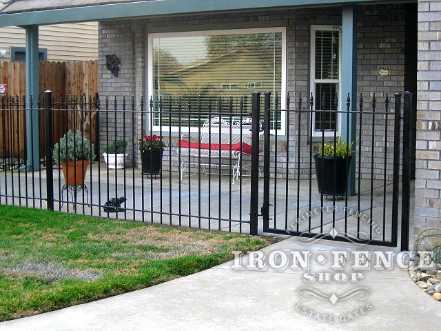 4ft Iron Fence Used to Enclose a Front Porch Patio Area