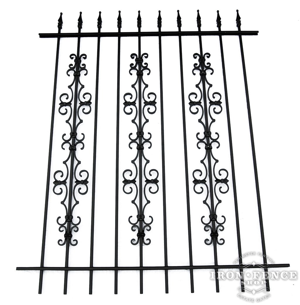 Custom Wrought Iron Fence Panels And Gates Without The Cost 16 2 Butterfly New 5ft Tall With Stacked Guardian Add On Decorations