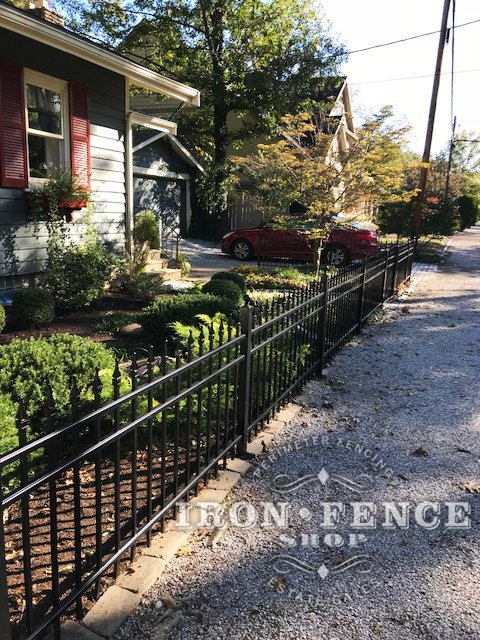 Our 3ft Tall Infinity Aluminum Fence in Classic Style