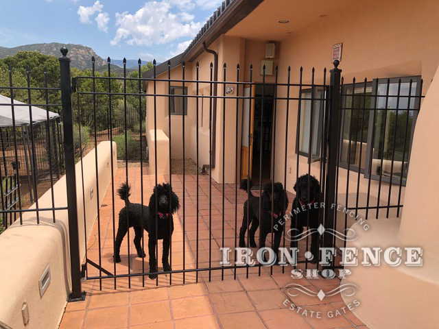 Our Economy Style Iron Fence with Pinched Picket Tips