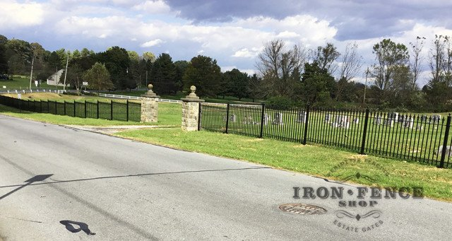 Iron Fence that Replaced Cheap Vinyl Fence