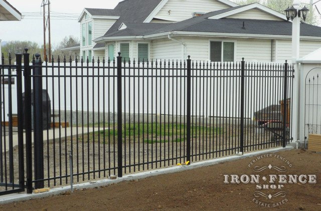 Our 6ft Tall Infinity Aluminum Fence in Classic Style