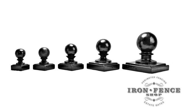 Our Stronghold Iron Cast Iron Ball Caps for Posts in Various Sizes