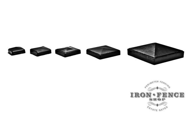 Our Stronghold Iron Cast Iron Standard/ Flat Caps for Posts in Various Sizes