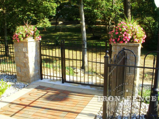 4x4 Iron Hoop and Picket Style Gate